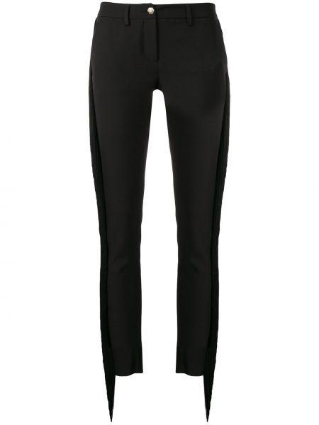 Черные брюки с карманами на молнии Philipp Plein