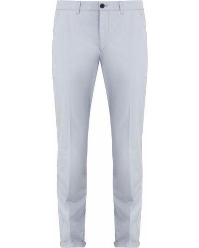 Зауженные брюки с карманами серые Prada