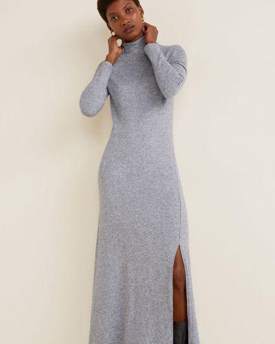 Облегающее платье с длинными рукавами с воротником гольф Mango