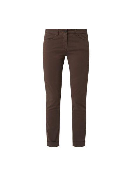 Brązowe spodnie materiałowe Luisa Cerano