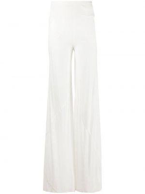 Хлопковые прямые белые брюки Rick Owens Lilies