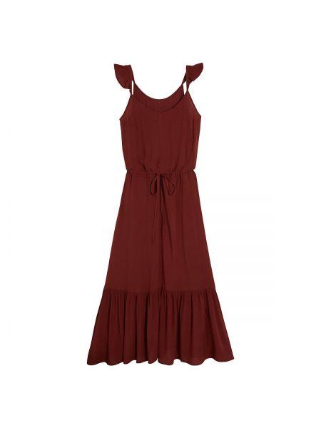 Платье с поясом на бретелях с V-образным вырезом La Redoute