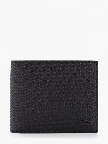 Кожаный черный кошелек Lacoste
