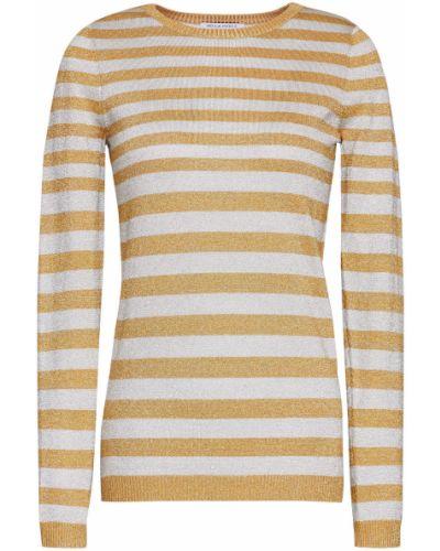 Вязаный свитер в полоску золотой Bella Freud