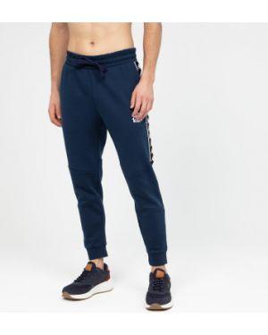 Хлопковые синие зауженные спортивные спортивные брюки Kappa