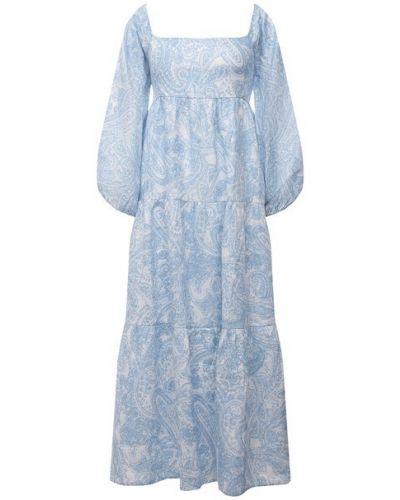 Льняное платье - голубое Faithfull The Brand