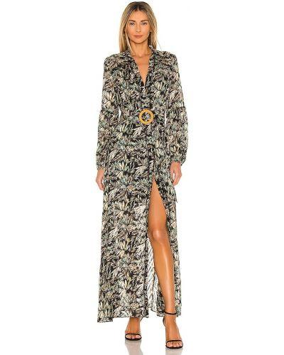 Свободное деловое черное платье макси Elliatt