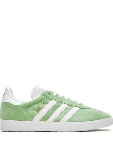 Кожаные кроссовки замшевые белый Adidas