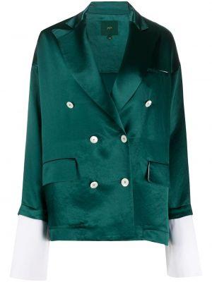 Зеленый пиджак двубортный с карманами Jejia