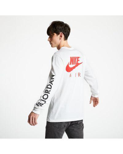 Markowe biały koszulka z długim rękawem Jordan