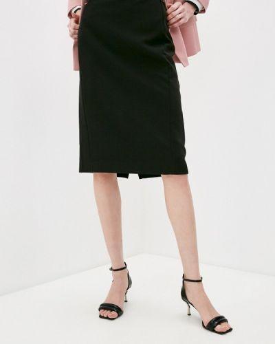 Прямая черная юбка карандаш Trussardi