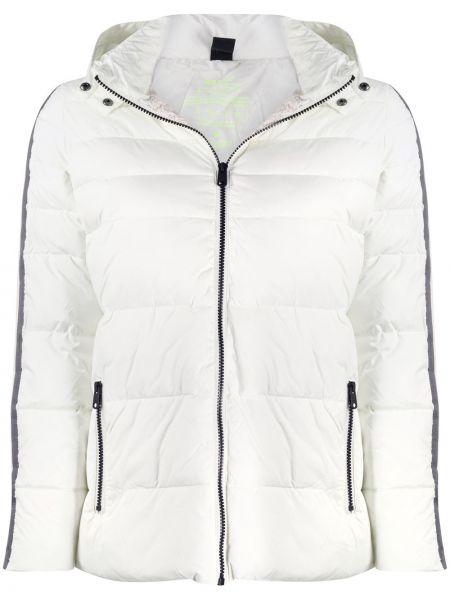 Белая классическая стеганая куртка с нашивками с карманами Ecoalf