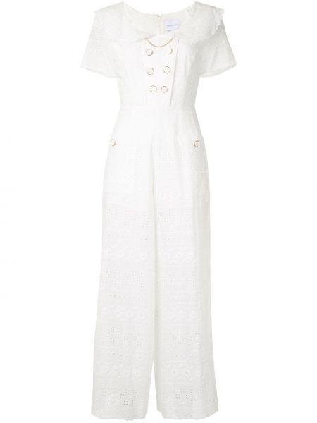 Белый свободные комбинезон с вышивкой на пуговицах Alice Mccall