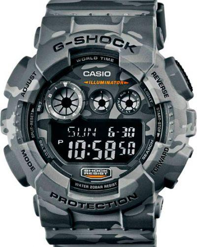 Часы водонепроницаемые с подсветкой камуфляжные Casio