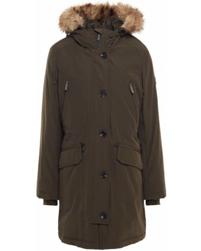 Зеленое пальто из искусственного меха Michael Michael Kors