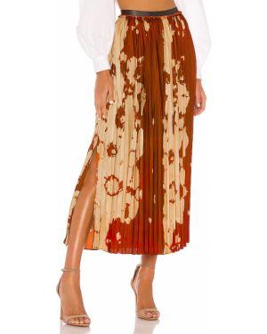 Satynowa pomarańczowa spódnica Petersyn