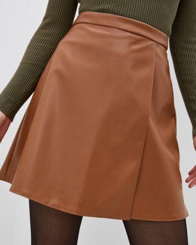 Коричневая кожаная юбка Trendyangel