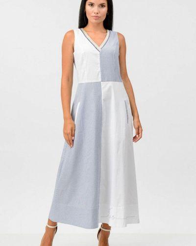 Прямое платье - синее Raslov