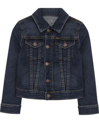 Джинсовая куртка с надписью на пуговицах Polo Ralph Lauren