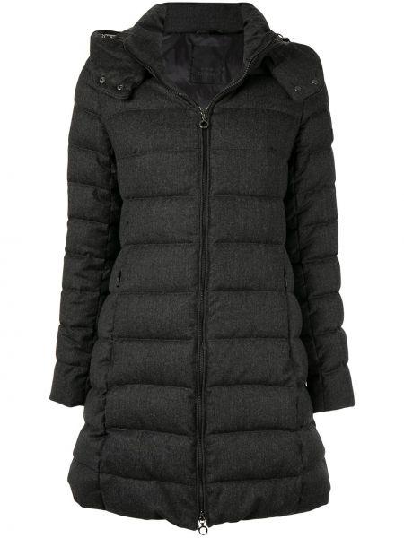Шерстяная прямая куртка с капюшоном мятная на молнии Tatras