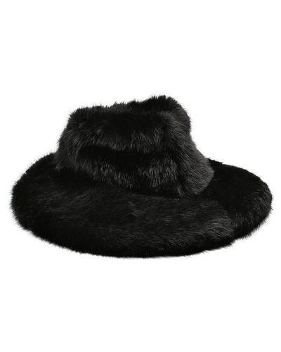 Шляпа с широкими полями из искусственного меха с подкладкой Tom Ford