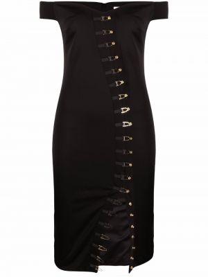 Czarna sukienka midi Murmur