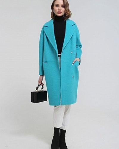 Прямое шерстяное пальто с воротником Idekka