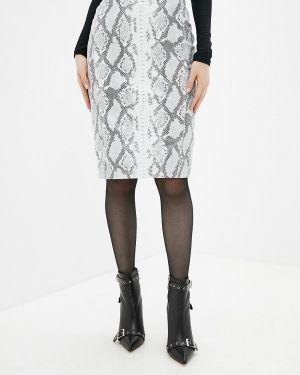 Кожаная юбка серая Madeleine