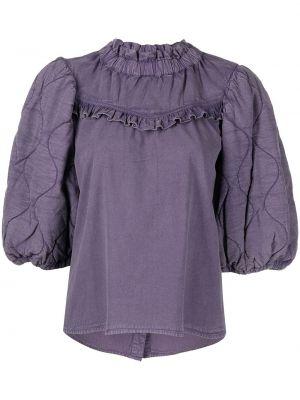 Хлопковая блузка - фиолетовая Sea