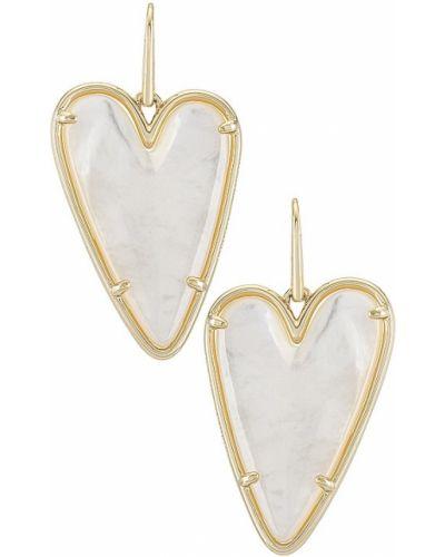 Złote kolczyki sztyfty perły pozłacane Kendra Scott