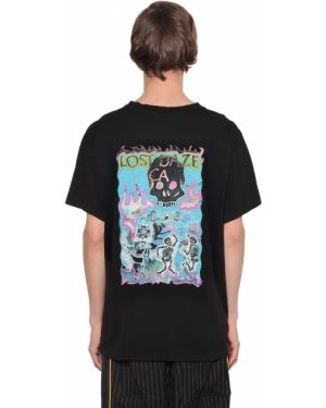 Czarny t-shirt bawełniany oversize Lost Daze Ca