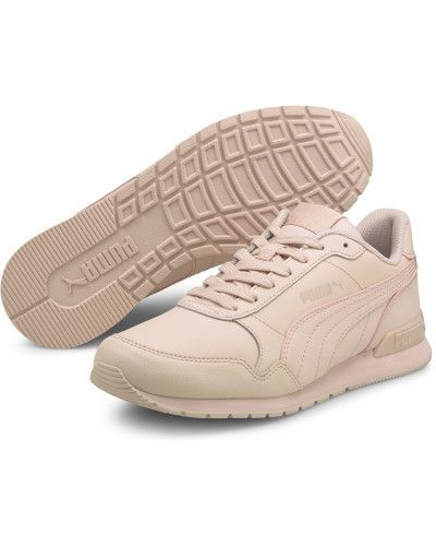 Розовые кожаные кроссовки Puma