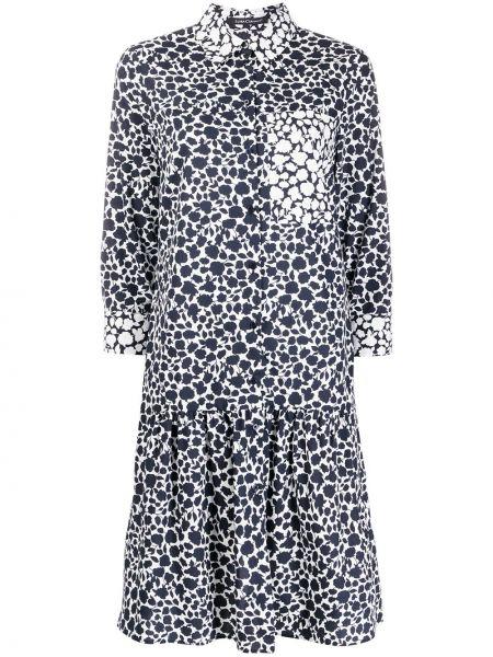 Хлопковое платье миди - синее Luisa Cerano