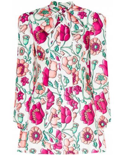 Платье мини с цветочным принтом шелковое The Vampires Wife