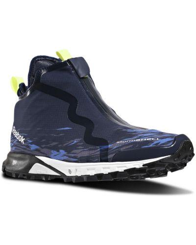 Синие спортивные теплые кроссовки Reebok