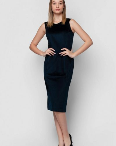 Синее платье-футляр Arber