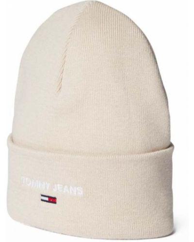 Czapka beanie - biała Tommy Jeans