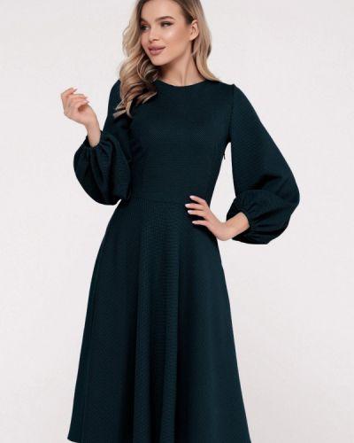 Прямое бирюзовое платье А-силуэта Magnet