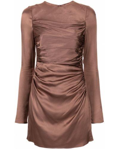 Коричневое платье из вискозы Shona Joy