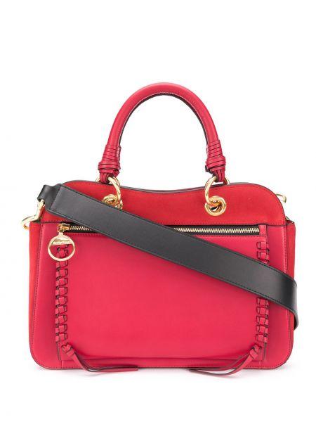 Skórzana torebka na ramię z uchwytem See By Chloe