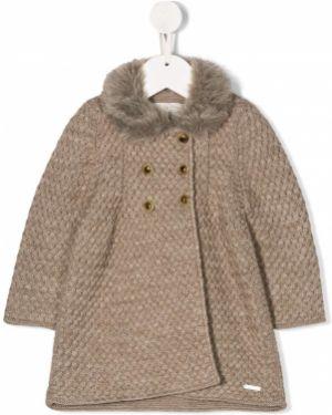 Акриловое вязаное длинное пальто Pili Carrera