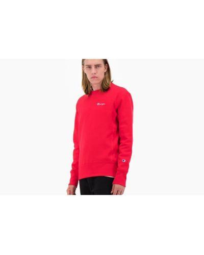 Czerwona bluza z długimi rękawami bawełniana Champion