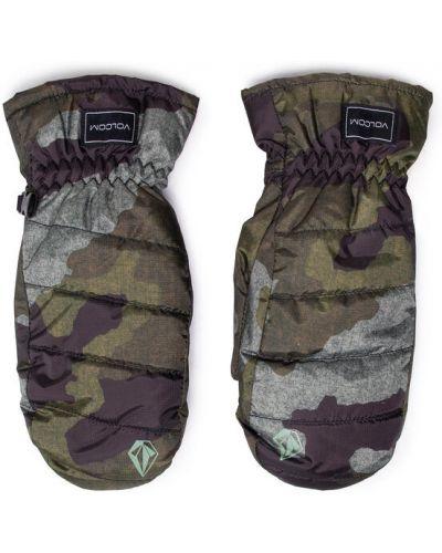 Zielone rękawiczki Volcom
