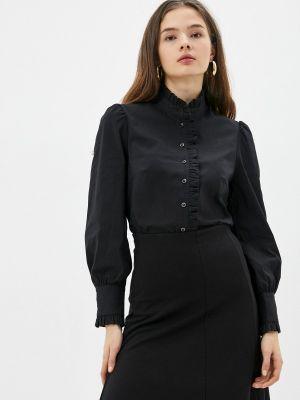 Блузка с длинными рукавами - черная Blauz