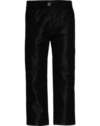 Флисовые черные утепленные брюки Button Blue