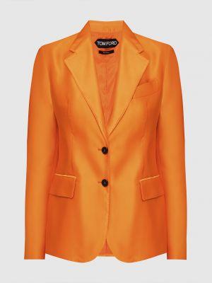 Оранжевый шелковый пиджак Tom Ford