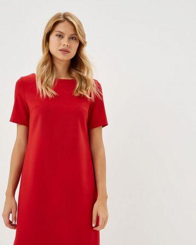 Платье красный осеннее Akimbo