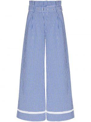 Хлопковые синие брюки с накладными карманами Shrimps