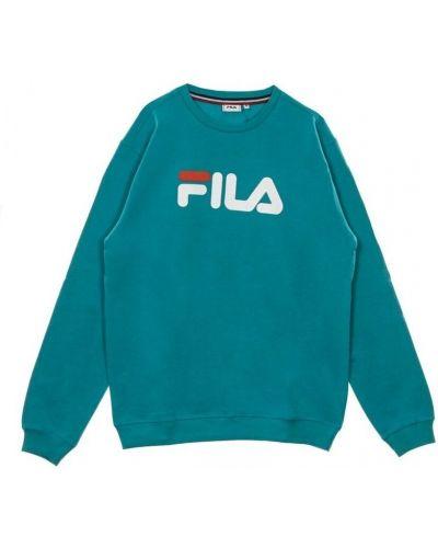 Niebieska bluza długa oversize z długimi rękawami Fila