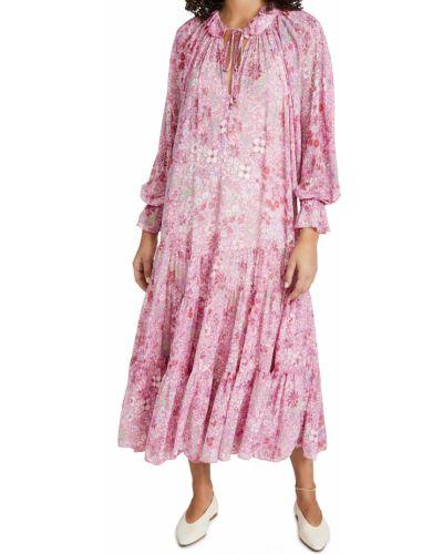 Розовое шифоновое платье макси свободного кроя Free People